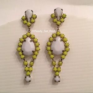 Jewelry - Neon yellow and white Whitestone earrings